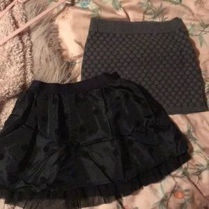Set of Two Girls Dotted Skirts, Size 8